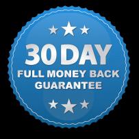 30 day full money back guarantee